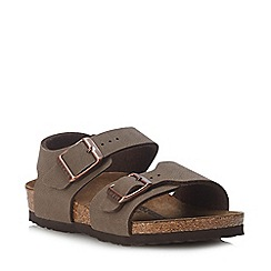 Birkenstock - Kids' Brown Nubuck 'New York' Sandals