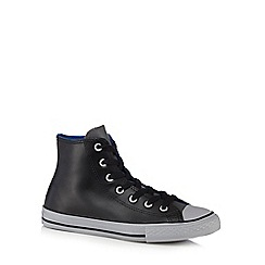 Converse - Black leatherette high top trainers
