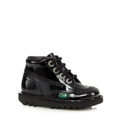 Kickers - Girl's black leather patent boots