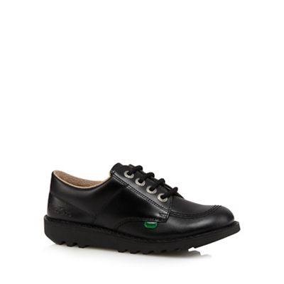 Kickers - Boy's black leather arch support shoes