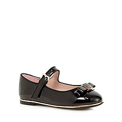 Baker by Ted Baker - Girls' black patent bow applique shoes