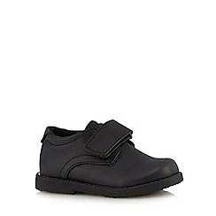 Debenhams - Boys' black rip tape school shoes