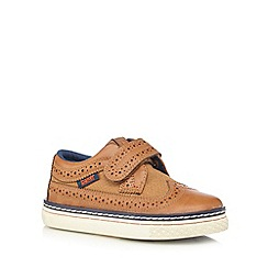 Baker by Ted Baker - Boys' tan brogue rip tape shoes
