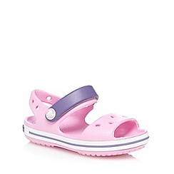 Crocs - Girls' pink rip tape sandals