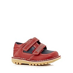 Kickers - Boys' red stitch detailed shoes