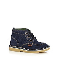 Kickers - Boys' navy suede ankle boots
