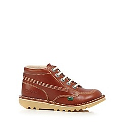 Kickers - Boys' tan leather Chukka boots