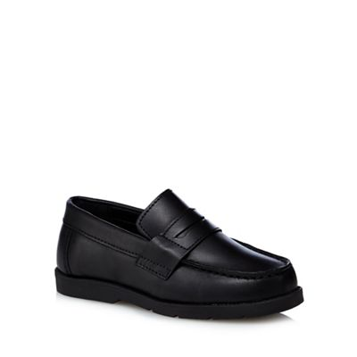 Debenhams - black Boys' black - leather school shoes 23b666