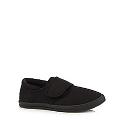 Debenhams - Unisex black school plimsolls