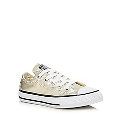 Converse - Girls' gold 'All-Star' trainers
