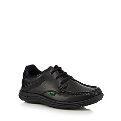 Kickers - Boys' black leather lace up shoes