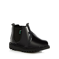 Kickers - Girls' black patent Chelsea boots