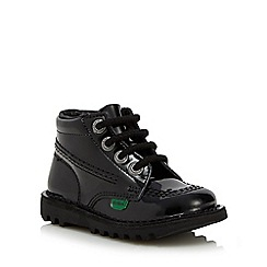 Kickers - Girls' black patent boots
