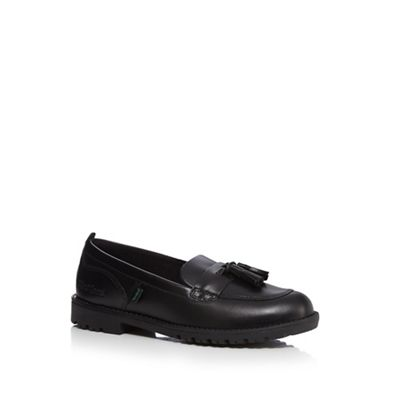 Kickers - Girls' black 'Lachley' tassel loafers