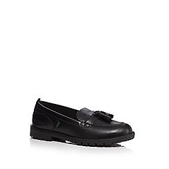Kickers - Girls' black 'Lachley' tassel loafers