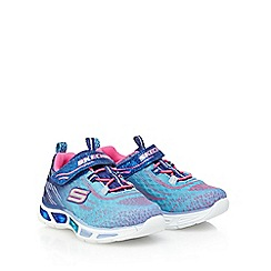 Skechers - Girls' blue ombre light up trainers