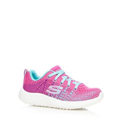 Skechers - Girls' pink 'Burst-Ellipse' trainers