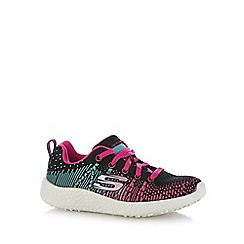 Skechers - Girls' black and pink 'Burst-Ellipse' trainers