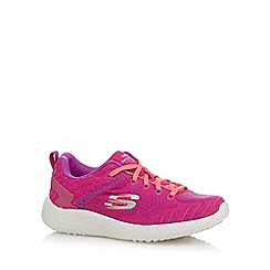 Skechers - Girls' pink knit trainers
