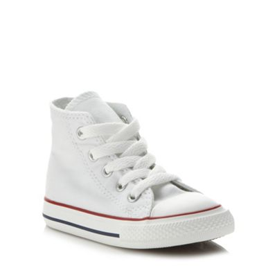 Converse - Children's white 'All Star' hi-top trainers