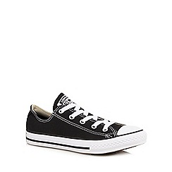 Converse - Kids' black 'All Star' canvas trainers