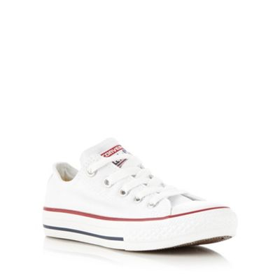 e6d7410bc96b Converse - Kids  white low top trainers