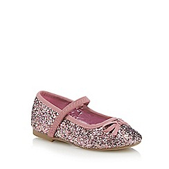 bluezoo - Girls' pink glitter party pumps