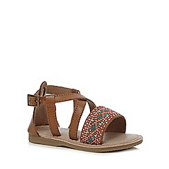 Mantaray - Girls' multi-coloured embroidered sandals