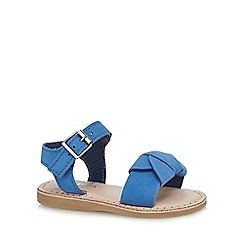 J by Jasper Conran - Girls' blue leather sandals