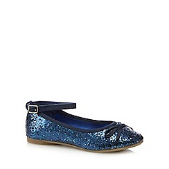 bluezoo - Girls' navy sequin bow pumps