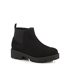 bluezoo - Girls' black chunky Chelsea boots