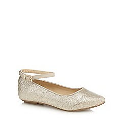 bluezoo - Girls' gold glitter pointed pumps