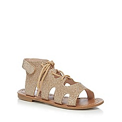 bluezoo - Girls' gold glitter ghillie sandals