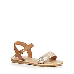 Mantaray - Girls' gold leather sandals