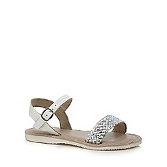 Mantaray - Girls' silver leather sandals