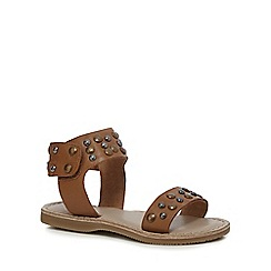 Mantaray - Girls' tan studded sandals