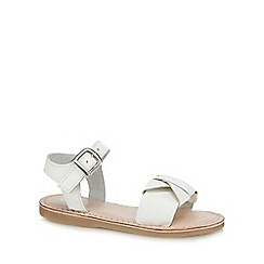 J by Jasper Conran - Girls' white leather sandals