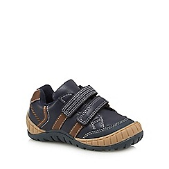 bluezoo - Boys' navy two-tab trainers