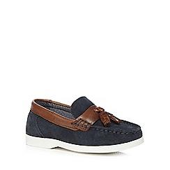 J by Jasper Conran - Boys' navy tassel loafers