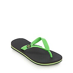 Ipanema - Kids' black 'Rio' textured flip flop