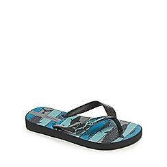 Ipanema - Boys' blue and grey shark print flip flops