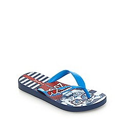 Ipanema - Boys' blue tiger print flip flops