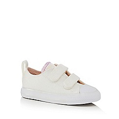 Converse - Girls' white 'All Star' trainers