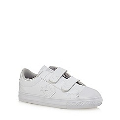 Converse - Boys' white 'Star Player' trainers