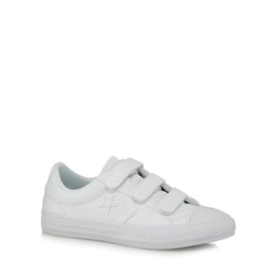 Converse - Boys' white star applique trainers