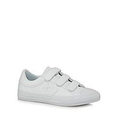 Converse - Kids' white star applique trainers