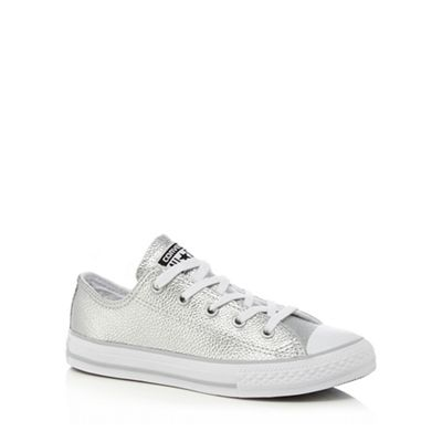 Converse - Girls' silver 'All Star' trainers