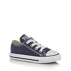 Converse - Boys' navy slip on trainers