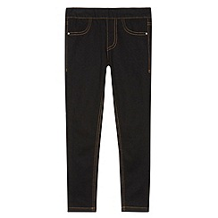 bluezoo - Girl's black twill jeggings