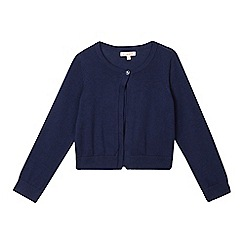 bluezoo - Girls' navy knitted cardigan